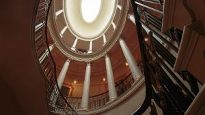 oval staircase in Culzean Castle