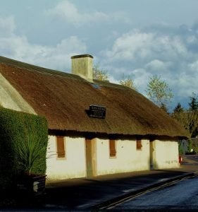 Front view of robert burns cottage Alloway Ayr