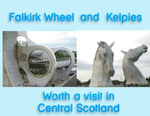 falkirk wheel and kelpies in central scotland