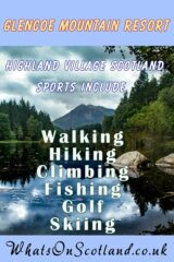 Glencoe Mountain Resort image listing the sports in the area