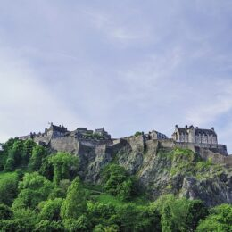 A castle view to help understand the history of edinburgh castle