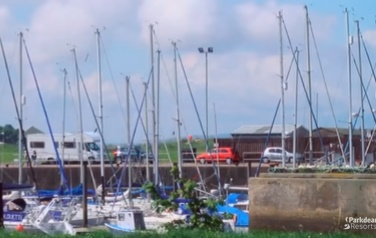 nairn harbour with yachts and fishing boats